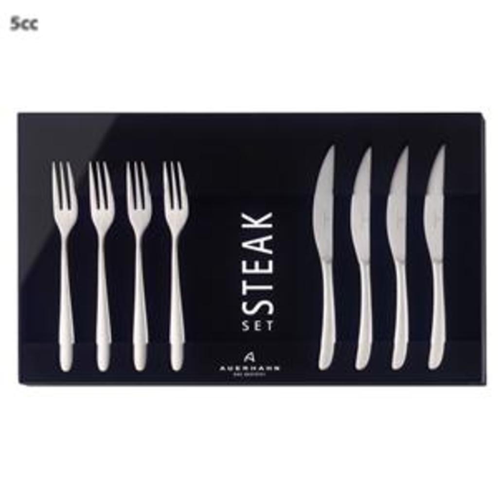 tuingerei auerhahn steakset mat 8 dlg silk van auerhahn misc. Black Bedroom Furniture Sets. Home Design Ideas
