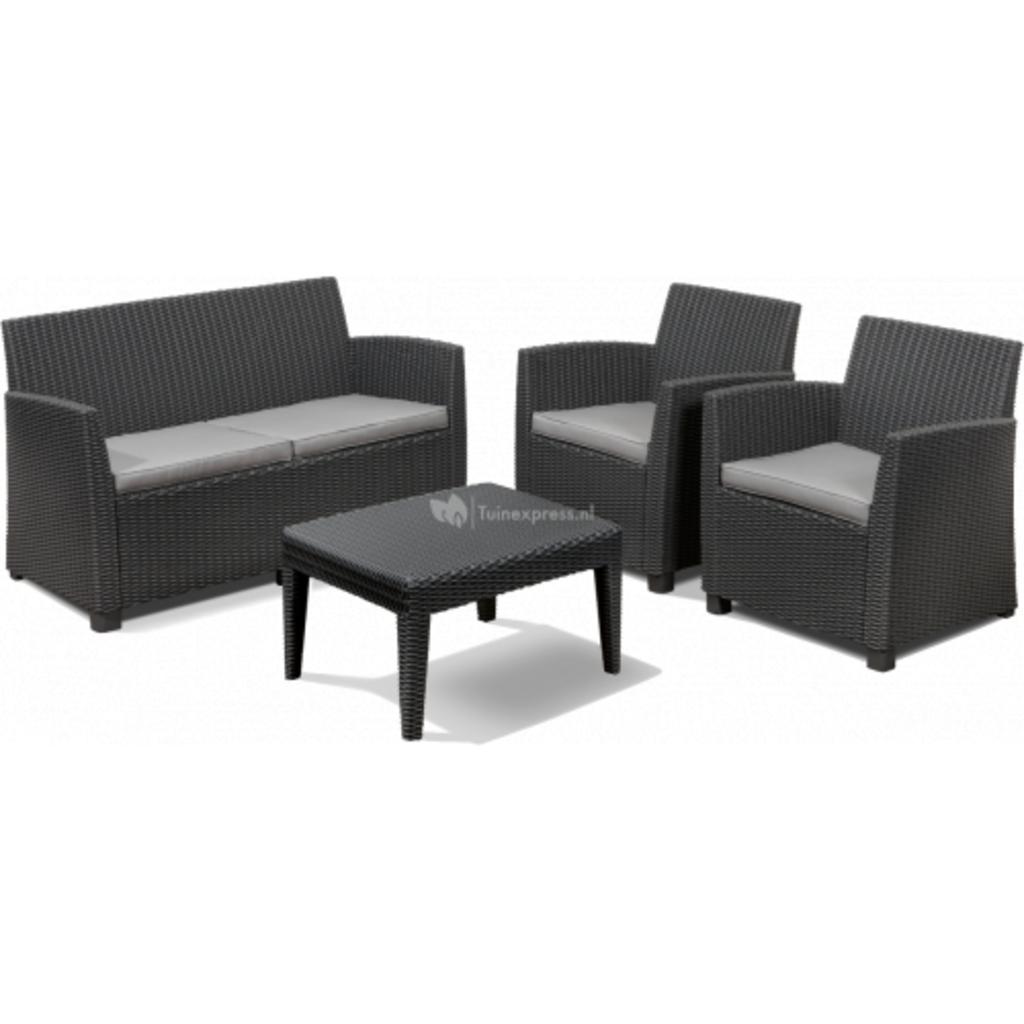 tuingerei corona loungeset met tafel van allibert stoelen en tafels meubilair kookgerei en. Black Bedroom Furniture Sets. Home Design Ideas