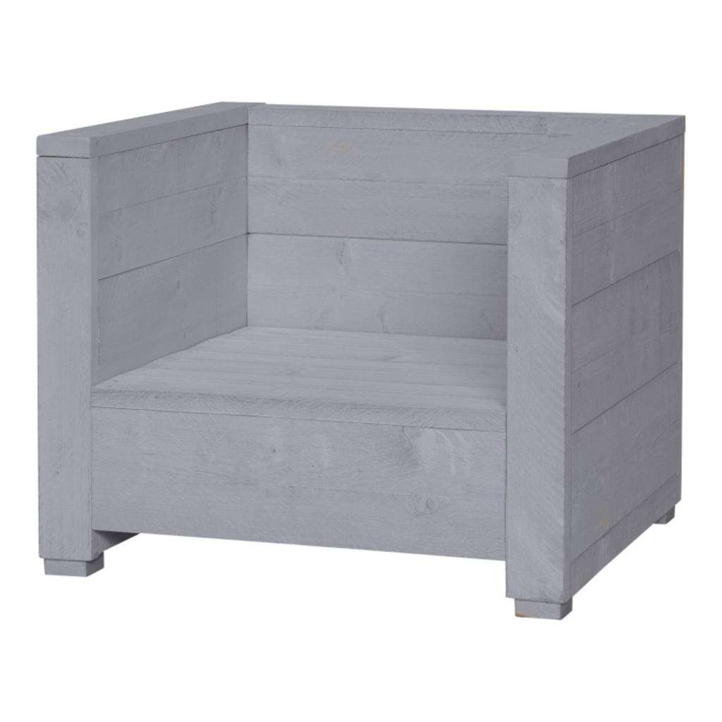 Tuingerei steigerhouten loungestoel varia beton grijs van estivo algemeen tuin algemeen - Meubilair van binnenkomst grijs ...