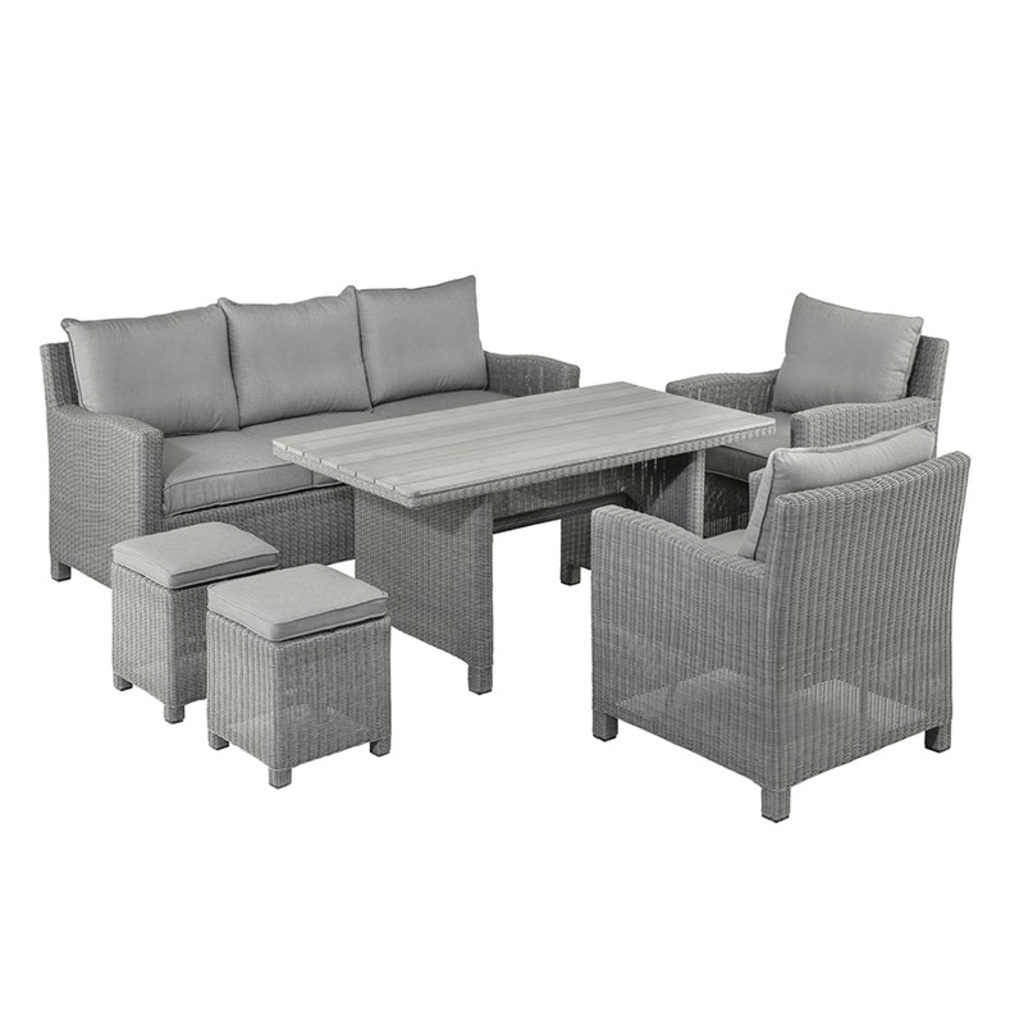 tuingerei kettler lounge dining set palma earth grey. Black Bedroom Furniture Sets. Home Design Ideas