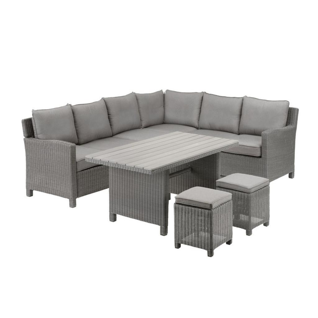 tuingerei kettler lounge hoekdining set palma earth grey van kettler wonen. Black Bedroom Furniture Sets. Home Design Ideas