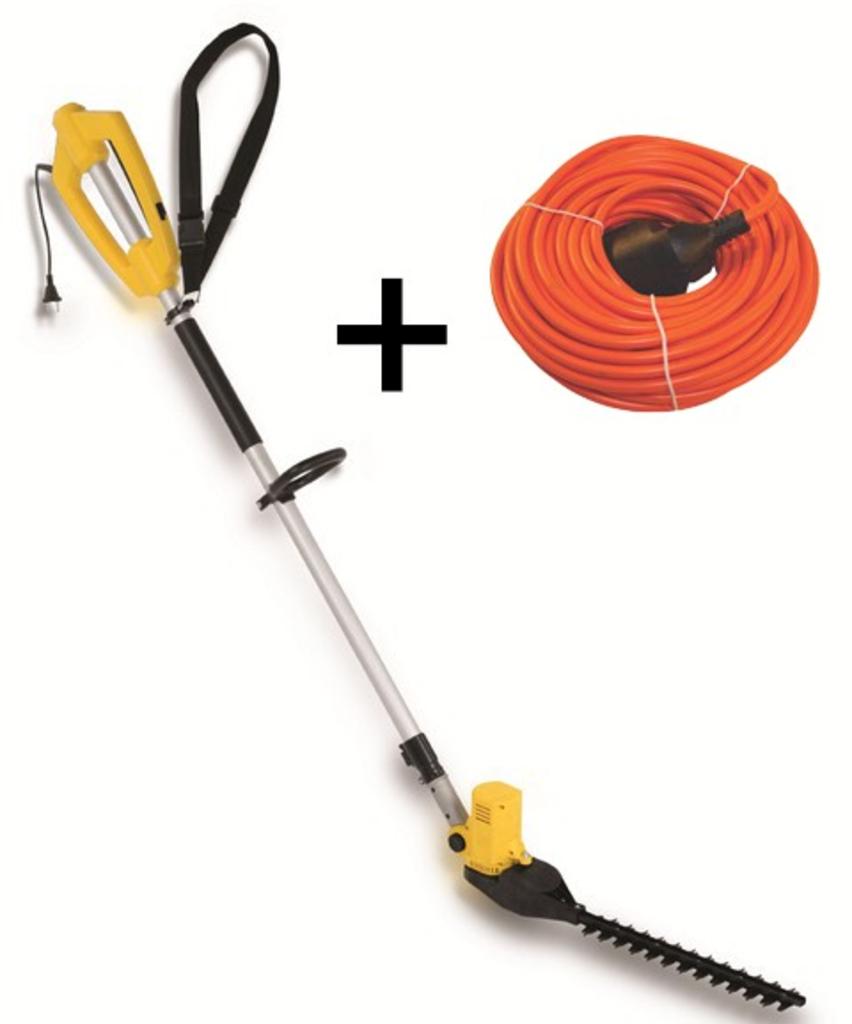 tuingerei powerplus powxg2040 elektrische stok heggenschaar inclusief verlengsnoer van. Black Bedroom Furniture Sets. Home Design Ideas