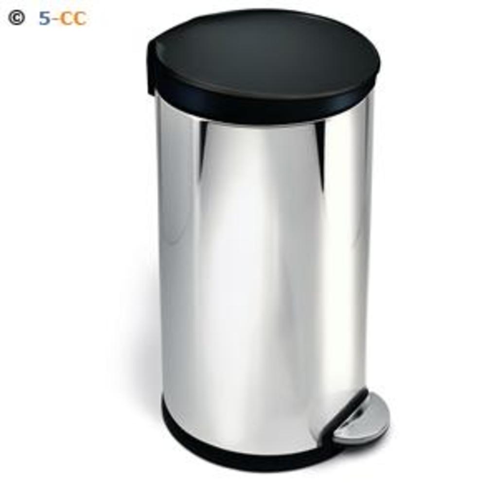 tuingerei simplehuman afvalemmer roundstep 40 liter glans van simplehuman misc. Black Bedroom Furniture Sets. Home Design Ideas