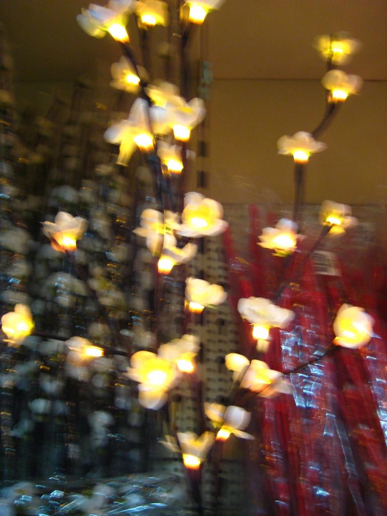 verlichte bloesemtakken wit voor binnen