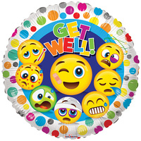 Get Well Smileys Ballon
