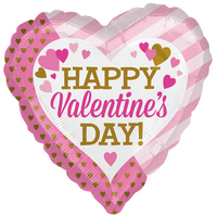 Happy Valentine's Day Pink/gold