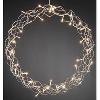 metalen krans zilver met led verlichting