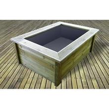 Tuingerei ubbink deco vijver quadra c3 frame hout van for Vijver afwerking hout